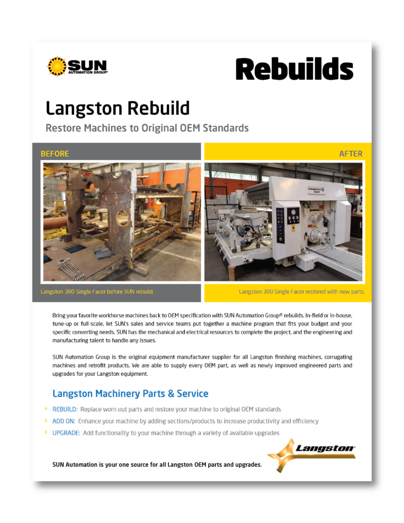 Langston Machinery Rebuild Case Study